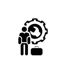 service man icon flat design vector image