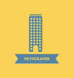 Skyscraper building high rise building tower vector
