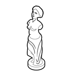 Statue icon in outline style vector
