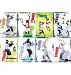 Tennis posters vector