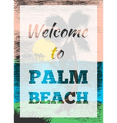 Tropical summer palm poster vector image