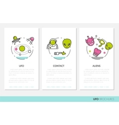 Ufo and space business brochures template vector