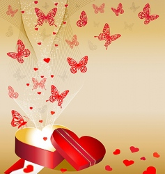valentines day background mini vector image vector image