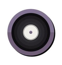 Vinyl disc icon vector