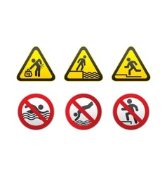 warning hazard and prohibited signs vector vector image vector image