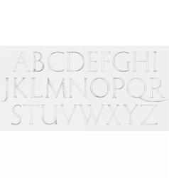 Modern Roman Classic Alphabet vector image