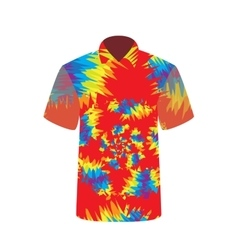 Colorful t-shirt depicting abstract psychedelic vector
