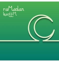Concept card for ramadan kareem celebration vector