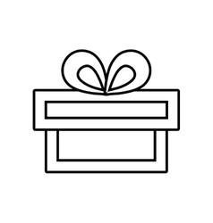 Gift box ribbon traditional decorative linear vector