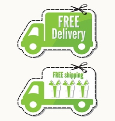 Free delivery free shipping labels vector