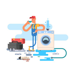 repair of washing machines vector image