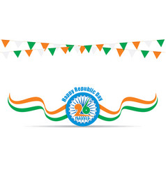Happy indian republic day design vector