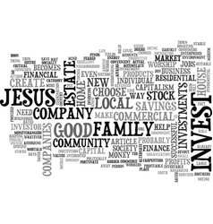 What would jesus invest in text word cloud concept vector