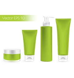 Packaging containers green color vector