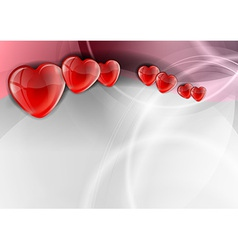 heart background wave vector image