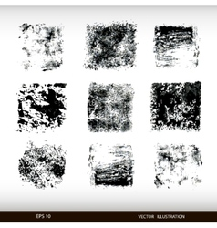 Set of different textural spots grunge textures vector