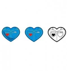 jean heart vector image