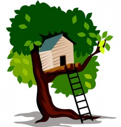 tree hut vector image