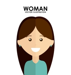 Woman avatar vector