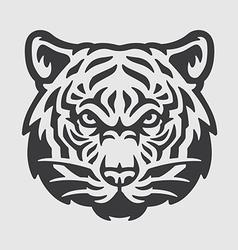 Tiger Head Logo Mascot Emblem vector image