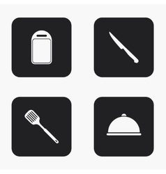 Modern kitchen appliances icons set vector