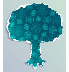 tree made of torn paper vector image