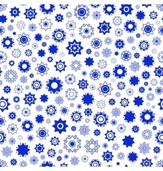 Blue star seamless patternstar background vector