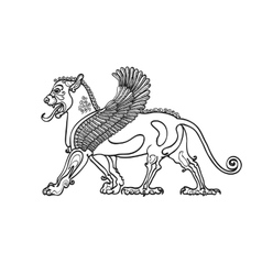 Coloring book stylized drawing of the Gryphon vector image