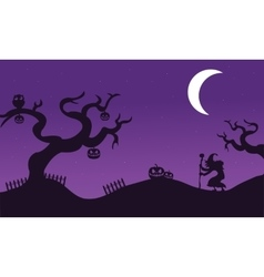 Set of halloween withc banners vector