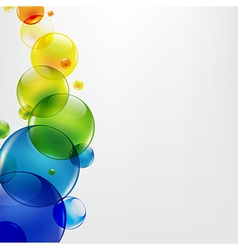 Abstract Background With Colorful Balls vector image vector image