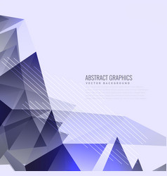 Abstract purple triangles background design vector