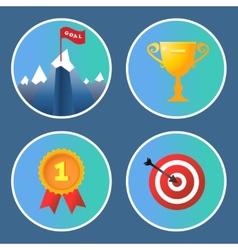 Achievement icons set vector