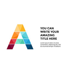 alphabet infographic presentation slide vector image vector image