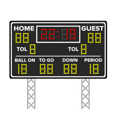 American football scoreboard sport game score vector