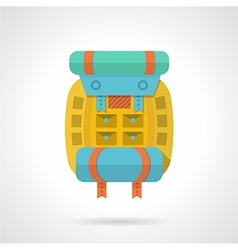 Colored backpack flat icon vector image