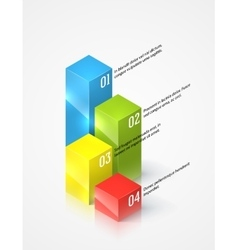 Colored graphs infographic template vector image