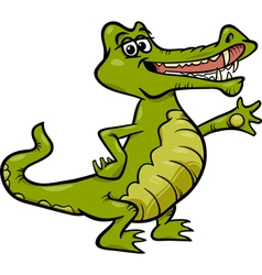 Crocodile animal cartoon vector