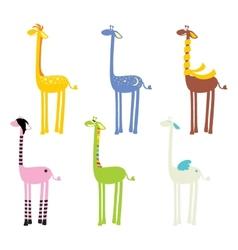 Cute giraffe seamless vector