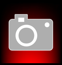 digital camera sign postage stamp or old photo vector image vector image