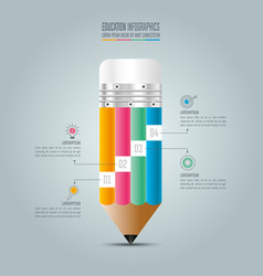 Education infographics template 4 step option vector