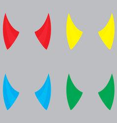 Horns devil set color vector image