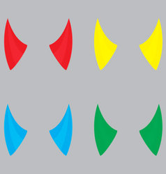 Horns devil set color vector