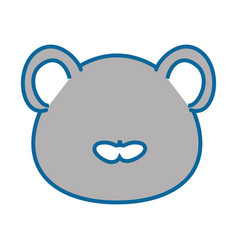 Isolated cute mouse face vector