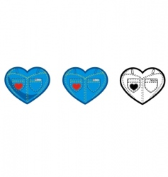 jean heart vector image vector image