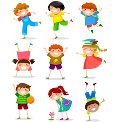 kids collection vector image vector image