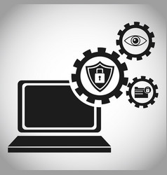 Laptop security protection information vector