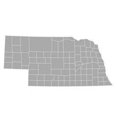 map of nebraska vector image vector image