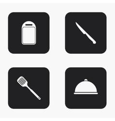 modern kitchen appliances icons set vector image