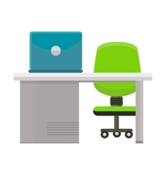 Modern office workplace vector