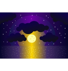 night and water background vector image vector image